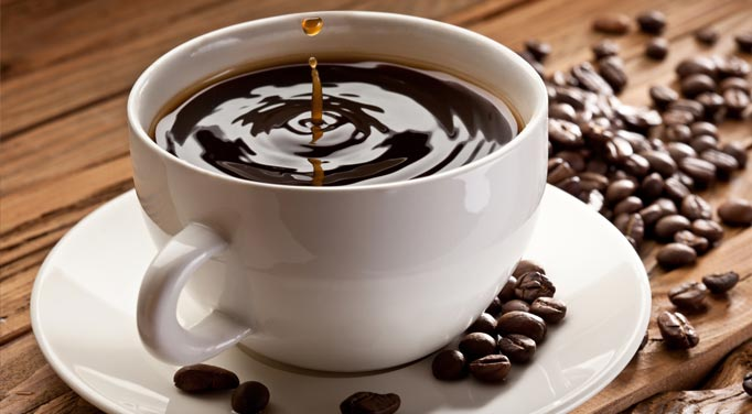 Caffeine chart content is high in many beverages such as coffee