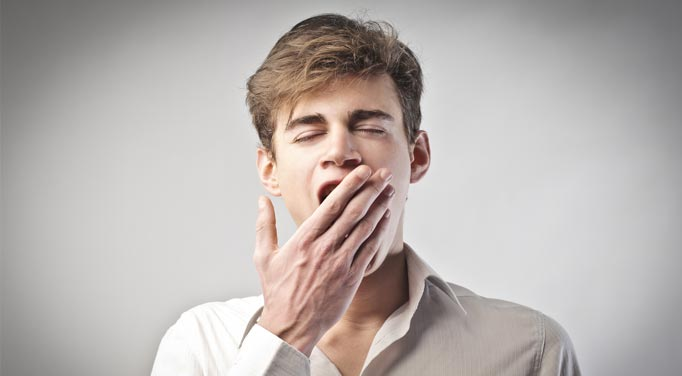 Not sleeping well can cause chronic yawning and fatigue.