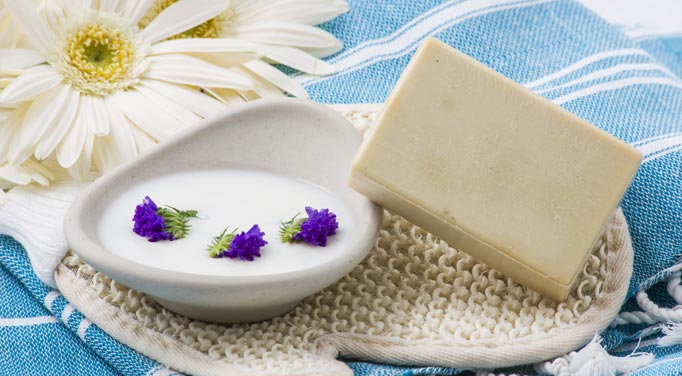 Different forms of goat's milk soap benefits