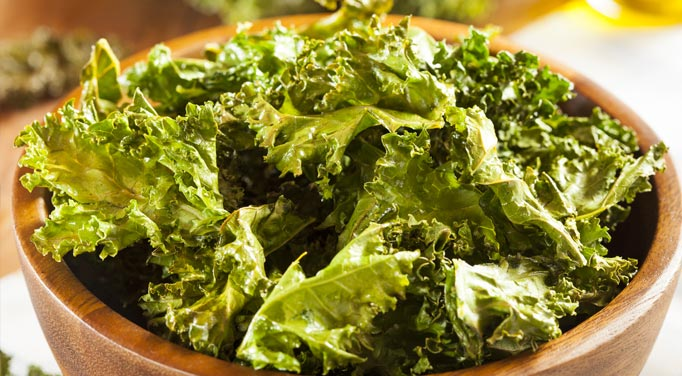 Result of the kale chip recipe