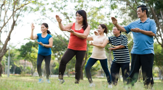 Natural joint pain relief can be an easy exercise like Tai Chi