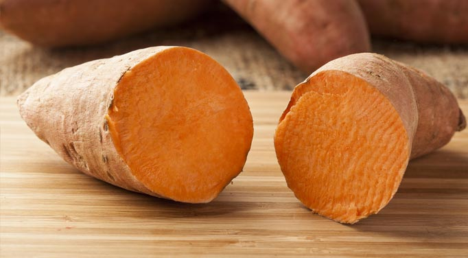 Sweet potatoes that will be used with pecans