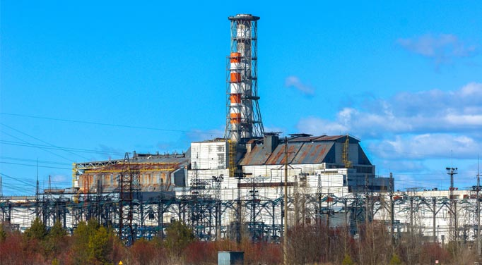 Chernobyl power plant caused a large amount of radiation poisoning