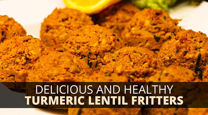 Delicious and Healthy Turmeric Lentil Fritters