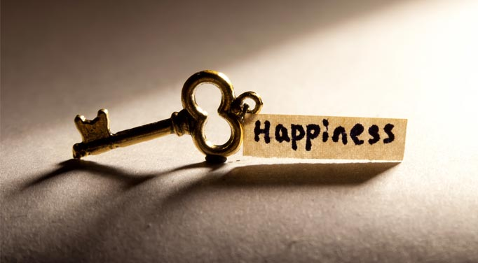 What is the key to being happy