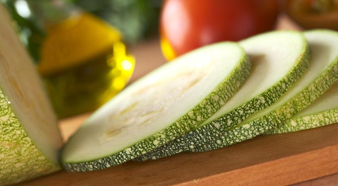 Zucchini adds a great crunch to the salad