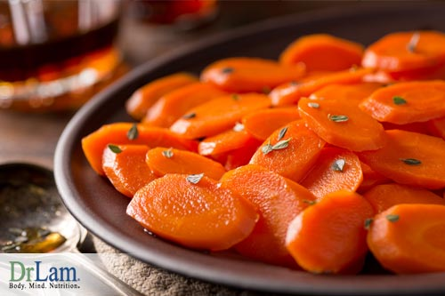 Glazed carrots sliced, another different alternative to marinated carrots