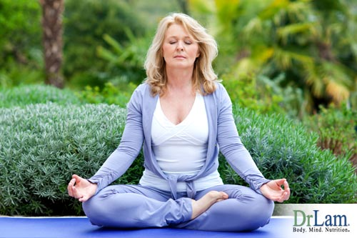 Meditating for calming an autoimmune condition