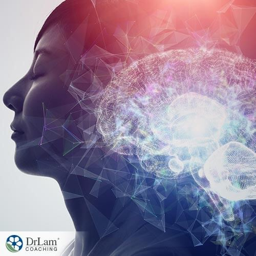 An image of woman undergoing the effects of hallucigonetic mushrooms