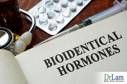 Natural bioidentical hormones prescribed by a doctor.