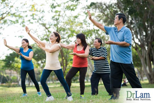 A Tai chi workout can be done with a group