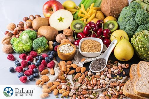 An image of omega 3 rich foods in a pile