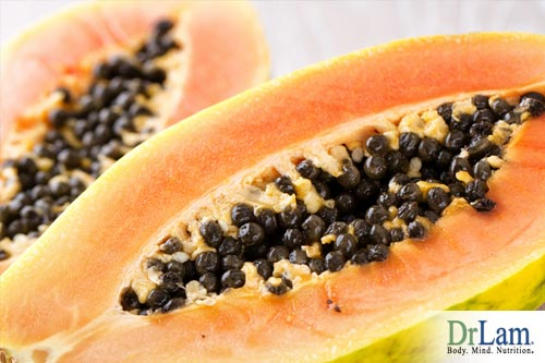 healthy stomach bacteria and papaya