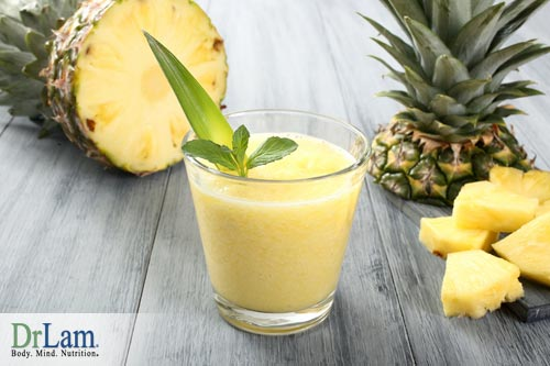 How to get rid of inflammation in the body with a pine apple drink.