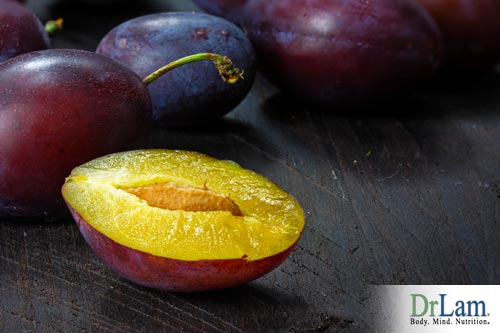 Food for beautiful skin include plums