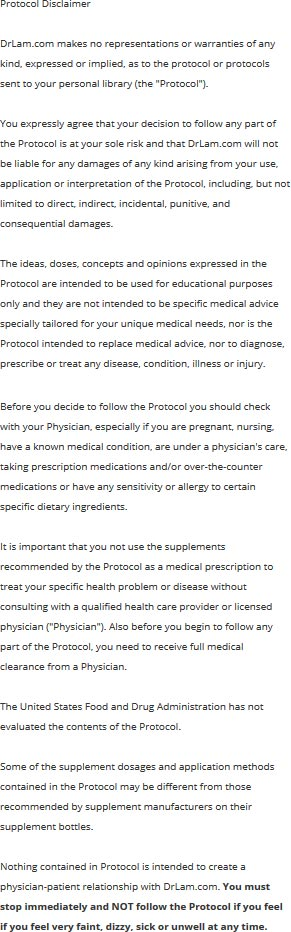 Read this detoxification diet protocol disclaimer especially if you have Adrenal Fatigue or other medical conditions