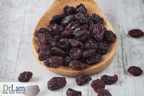 A balanced adrenal fatigue diet needs iron, which can be found in raisins