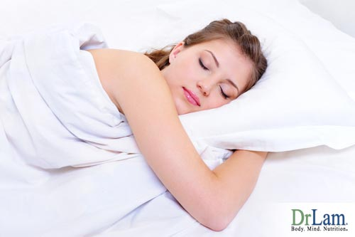 A woman sleeping soundly because she has a well adjusted biological clock