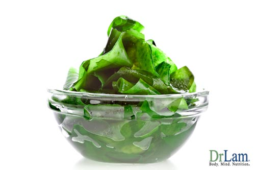 A bowl of seaweed. On top of being a great source of iodine, for you thyroid. Kelp may also help to protect against radiation