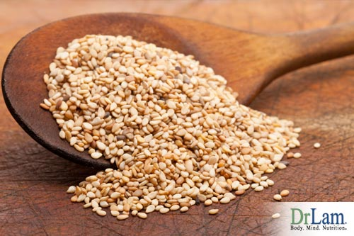 Food for beautiful skin include sesame seeds.