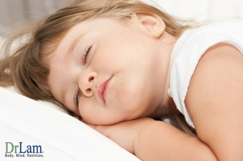 A child who is resting peacefully with DHA supplements for kids