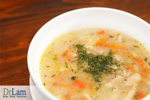 Chicken soup or broth is a great source of nutrients for those in a catabolic state