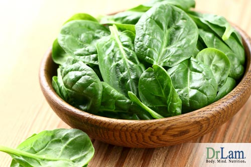 Eat spinach to help your microbiome and Adrenal Fatigue