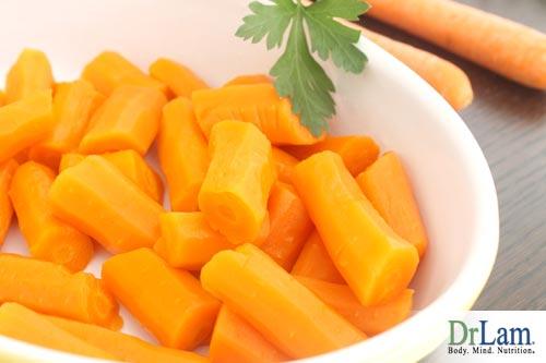 Steamed carrots, an alternative to marinated carrots