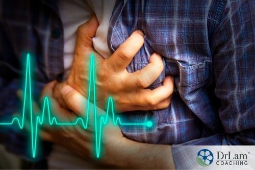 An image of a person clutching his chest