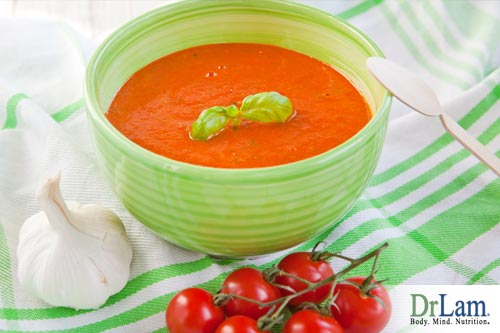 Blended tomato soup is a great choice for those with adrenal fatigue