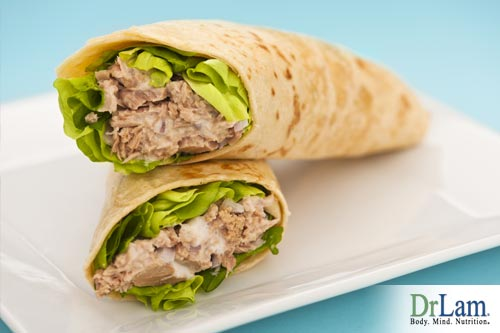 Tuna salad makes a great wrap filling