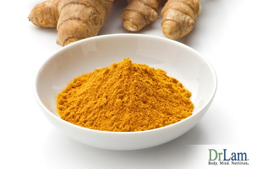 Turmeric root and a bowl of powdered turmeric. Turmeric health benefits have been well known and in use for thousands of years.