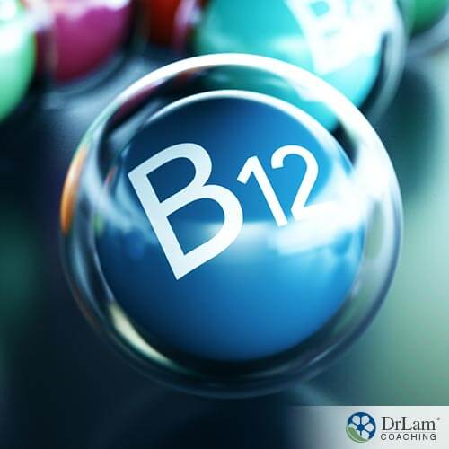 An image of a small blue sphere with B12 on it and a clear bubble around it