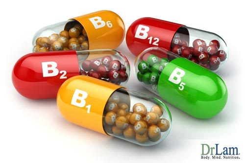 A variety of B vitamin supplements illustrating the diversity of vitamin B complex benefits