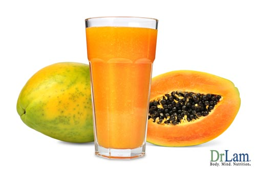 Benefits of papaya fruit blended