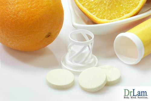 Oranges and Vitamin C supplements, which can contain different forms of antioxidants for cancer support