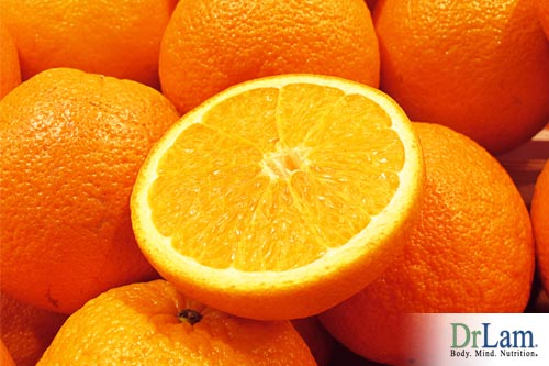 Oranges, containing Vitamin C, one of the amazing antioxidants for cancer.