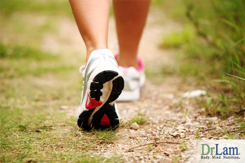 Put on comfortable shoes and walk your adrenal fatigue away