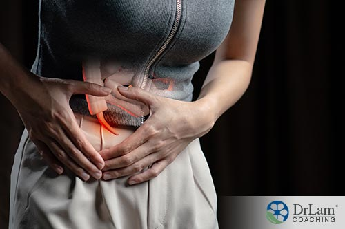 A person suffering from gastrointestinal pain