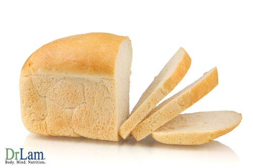 White bread and the glycemic index table