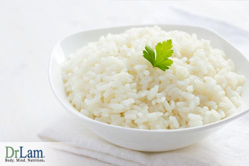 White rice is not classified as unrefined carbohydrates