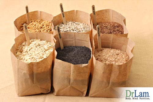 healthy stomach bacteria and whole grains