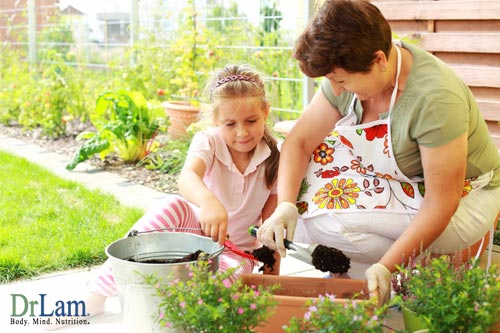 Simply being outside and gardening for therapy will help