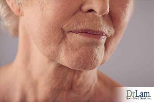 The development of wrinkles as you age has a large component of chronic inflammation and tissue damage over a lifetime.