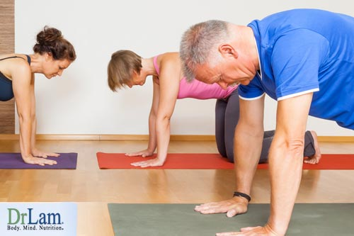 Yoga for older people being active